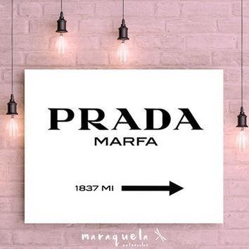 Shop Prada Marfa On Wanelo For Prada Wall Art (Image 20 of 20)