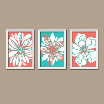 Shop Turquoise Artwork On Wanelo In Orange And Turquoise Wall Art (Image 17 of 20)