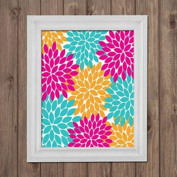 Shop Turquoise Wall Picture On Wanelo Within Orange And Turquoise Wall Art (Image 19 of 20)