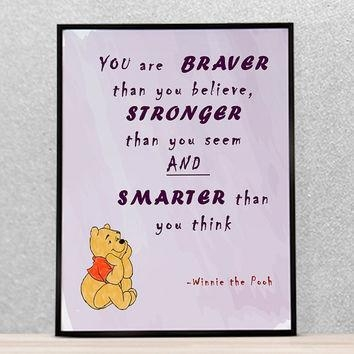 Shop Winnie The Pooh Nursery Decor On Wanelo In Winnie The Pooh Nursery Quotes Wall Art (Image 15 of 20)