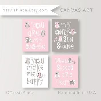 Shop You Are My Sunshine Canvas Prints On Wanelo With Regard To Nursery Canvas Art (Image 18 of 20)