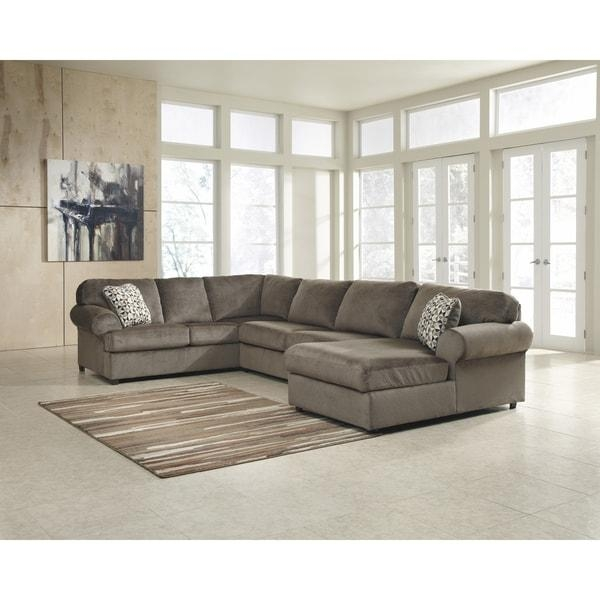 Signature Design Oversized Fabric Sectional Sofa – Free Shipping With Regard To Signature Design Sectional Sofas (Image 15 of 20)