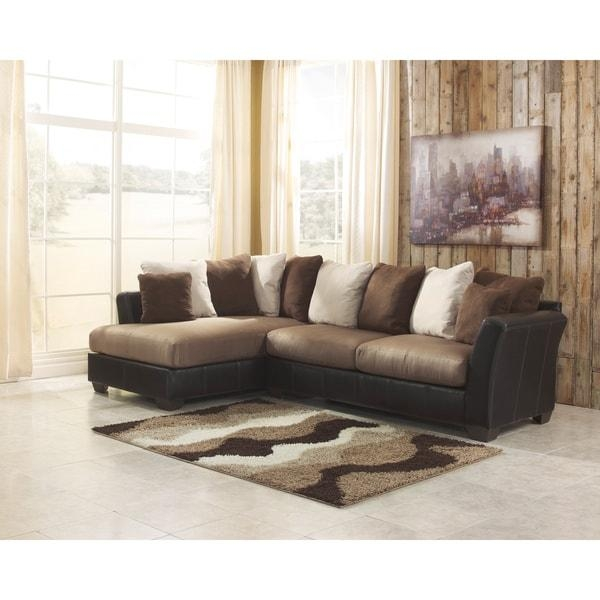 Signature Designashley Masoli 2 Piece Mocha Sofa And Corner In Signature Design Sectional Sofas (Image 18 of 20)