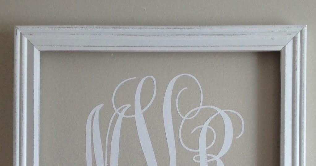 Silhouette} Vinyl Monogram Wall Art – Silhouette School For Framed Monogram Wall Art (Image 14 of 20)