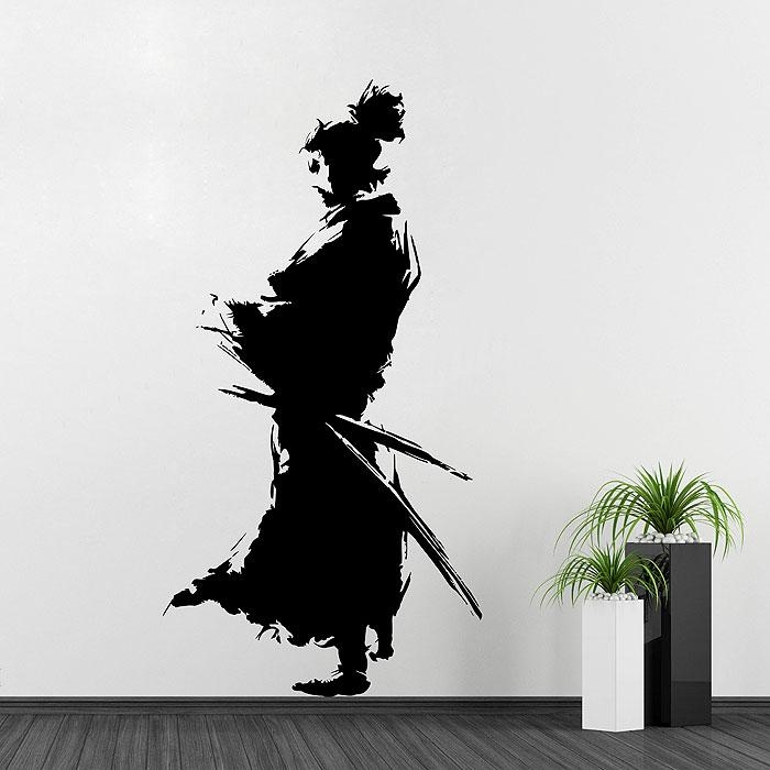 Silhouette Vinyl Wall Art Decal Pertaining To Samurai Wall Art (Image 18 of 20)