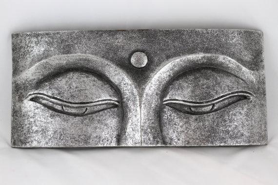 Silver Buddha's Eyes Wall Hanging Hand Carved And Regarding Silver Buddha Wall Art (View 4 of 20)