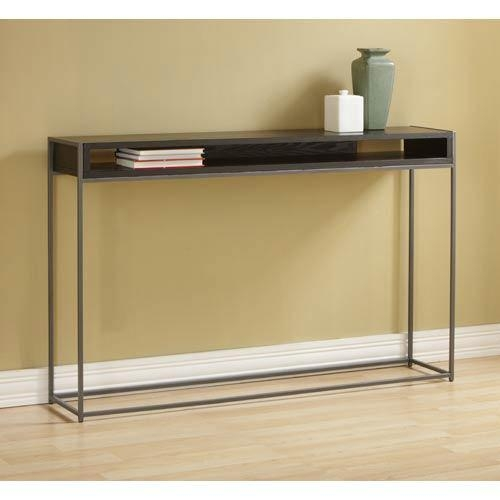 Silver Console Table | Bellacor Regarding Slim Sofa Tables (Image 15 of 20)