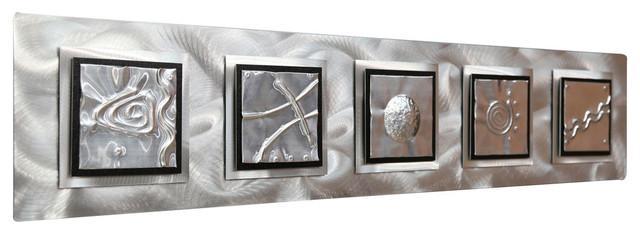 "Silver Feng Shui Inspired Metal Wall Art Sculpture – ""5 Elements Regarding Contemporary Metal Wall Art Sculpture (Image 17 of 20)"