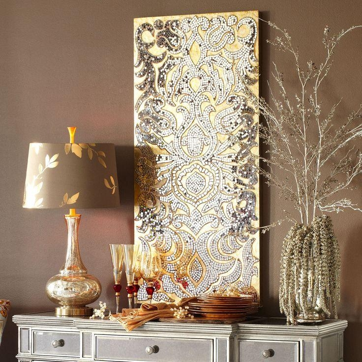 Silver Wall Accents Decor Ideas — Home Design Stylinghome Design Inside Silver And Gold Wall Art (Image 19 of 20)