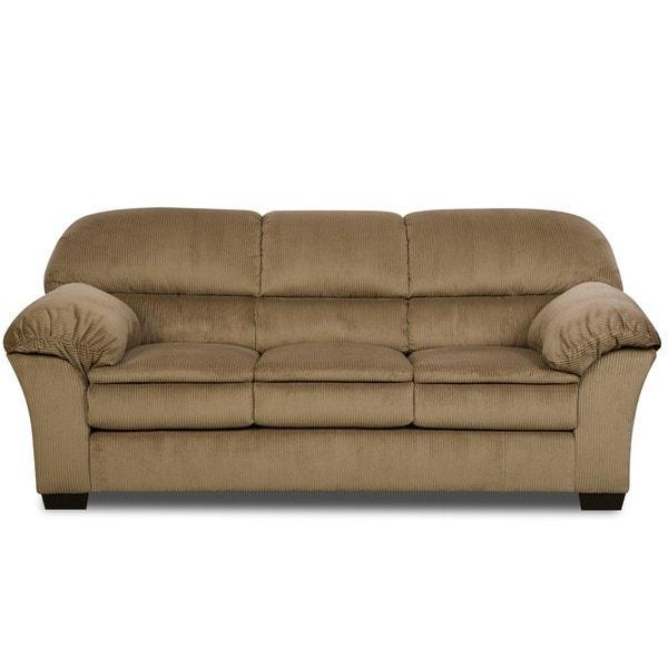 Simmons Deluxe Mink Corduroy Microfiber Sofa – Free Shipping Today Inside Simmons Microfiber Sofas (Image 16 of 20)