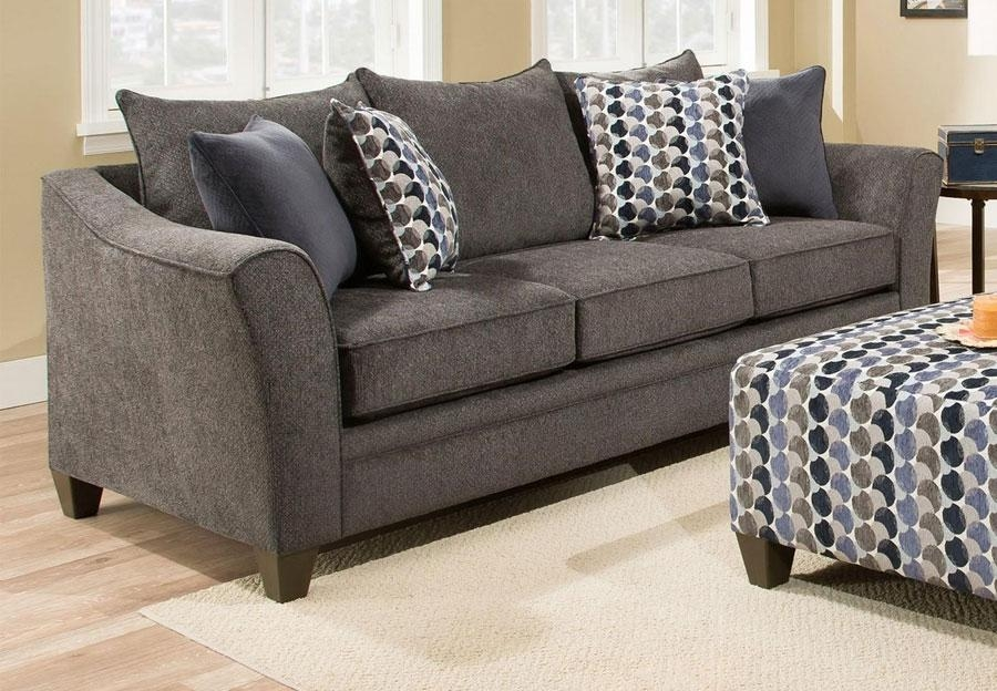 Simmons Upholstery Albany Slate Sofa Intended For Simmons Sleeper Sofas (Image 16 of 20)