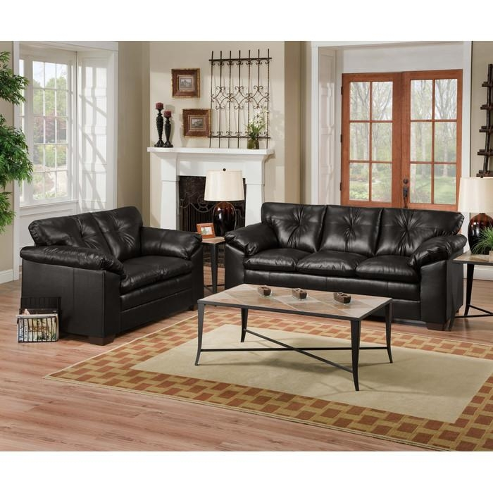 Simmons Upholstery Duxbury Living Room Collection & Reviews | Wayfair For Simmons Leather Sofas (Image 17 of 20)
