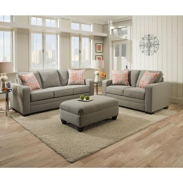 Simmons Upholstery Miramar Ash Loveseat – Free Shipping Today Throughout Simmons Microfiber Sofas (Image 20 of 20)