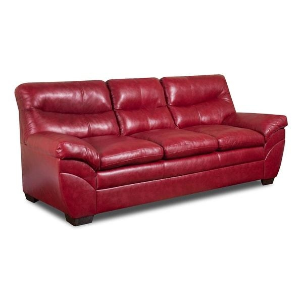 Simmons Upholstery Soho Cardinal Bonded Leather Sofa – Free With Simmons Leather Sofas (Image 19 of 20)