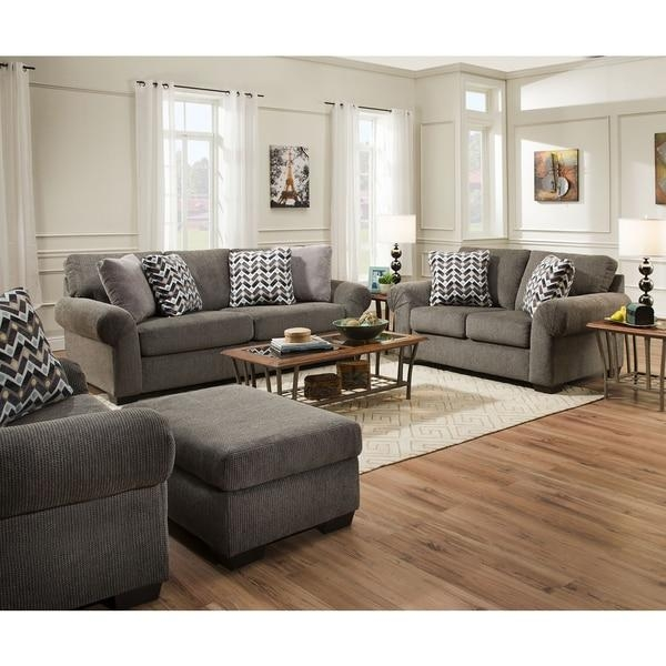 Simmons Upholstery Tokyo Pebble Sofa – Free Shipping Today Pertaining To Simmons Sofas And Loveseats (View 6 of 20)
