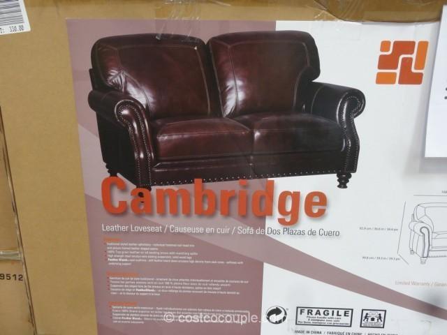 Simon Li Cambridge Leather Loveseat Regarding Simon Li Loveseats (Image 10 of 20)
