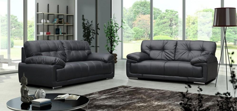 Simple Leather Sofas Set Sofa And Loveseat In Design Within Black Leather Sofas And Loveseats (Image 17 of 20)