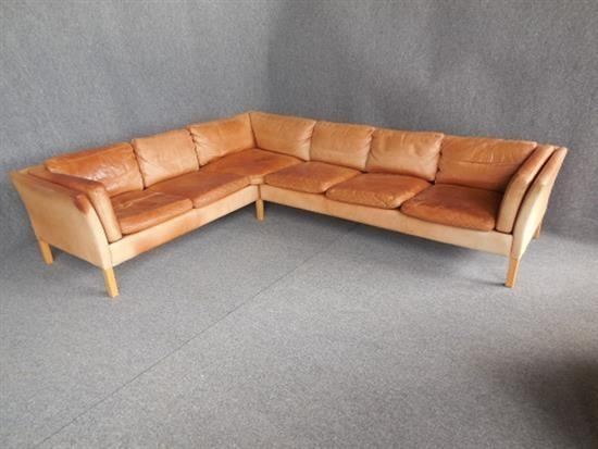 Six Seat Tan Leather Sofaanonymous Danish (20) On Artnet Throughout Danish Leather Sofas (Image 17 of 20)