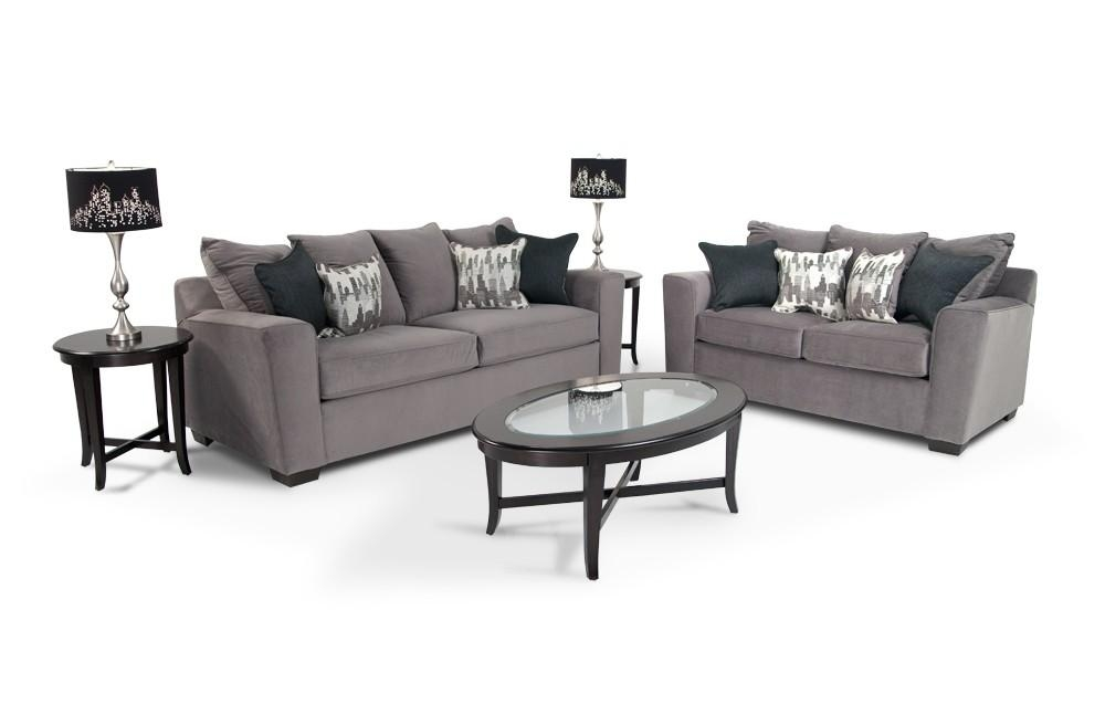 Skyline 7 Piece Living Room Set | Bob's Discount Furniture With Skyline Sofas (Image 9 of 20)