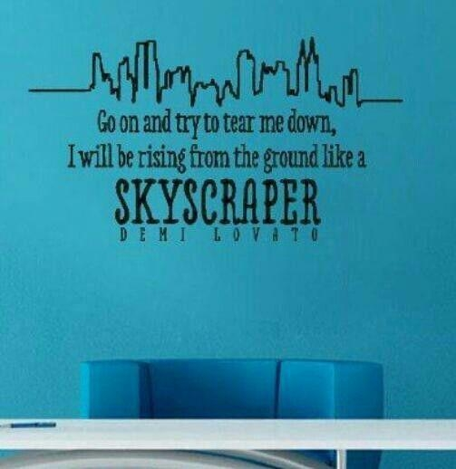 Skyscraper Lyrics Wall Decal | Quotes | Pinterest | Skyscrapers Throughout Music Lyrics Wall Art (View 16 of 20)