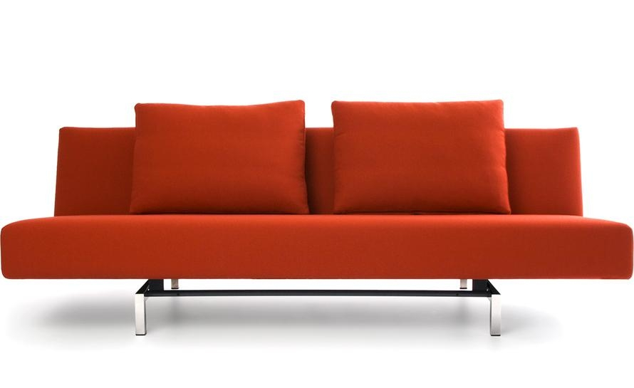 Sleeper Sofa With 2 Cushions – Hivemodern For Sleeper Sofas (Image 16 of 20)