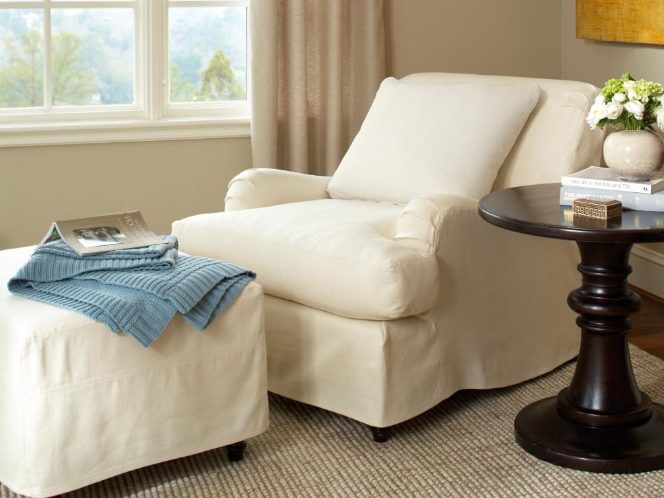Slipcovers For Chairs, Ottomans And More | Hgtv In Pottery Barn Chair Slipcovers (View 4 of 20)