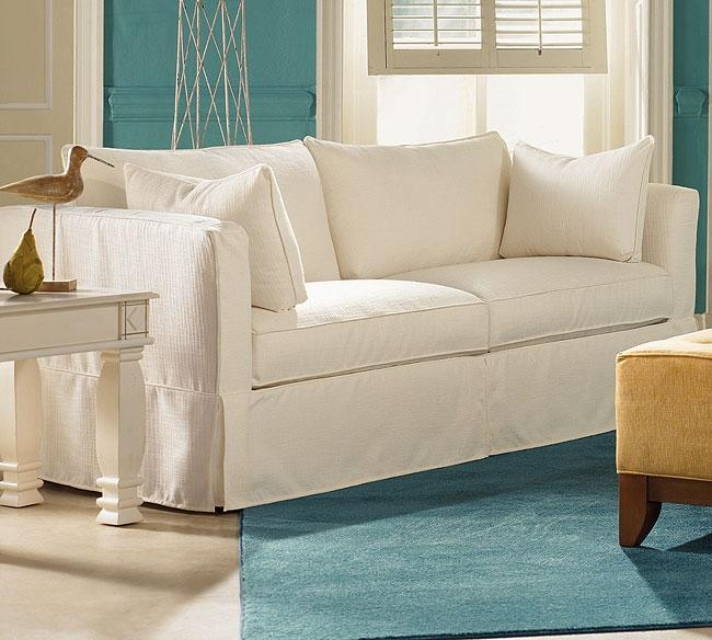 Slipcovers For Sleeper Sofas – White Slipcovered Sleeper Sofa Ikea With Slipcovers For Sleeper Sofas (Image 13 of 20)