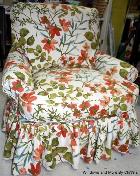 Slipcoverswindows And Morechrystal Pertaining To Floral Slipcovers (View 12 of 20)