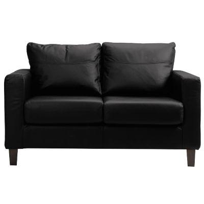 Charming Small Black Leather Couch Black Leather Sofa Bed | Eva Furniture With Small  Black Sofas (