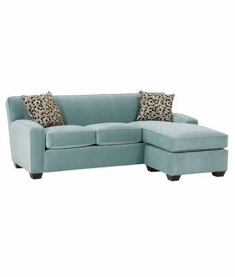 Small Contemporary Fabric Sectional Sofa With Chaise Lounge | Club Inside Small Sofas With Chaise Lounge (Image 14 of 20)
