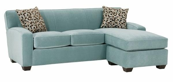 Small Fabric Sleeper Sectional Sofa With Reversible Chaise | Club Pertaining To Small Sofas With Chaise Lounge (View 3 of 20)