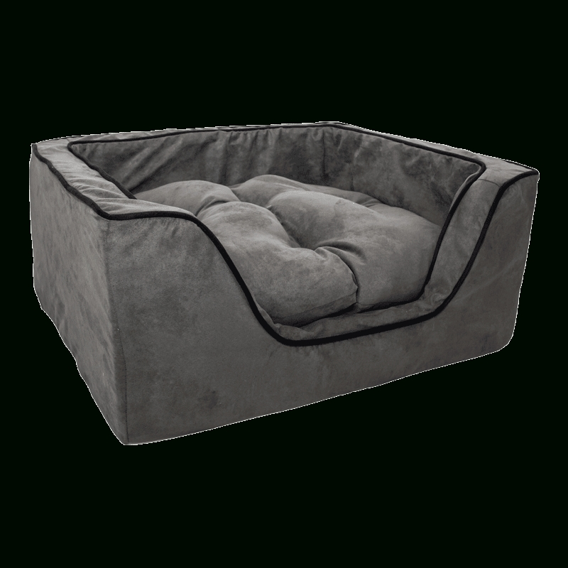 Snoozer Luxury Square Dog Bed W/microsuede | Overstuffed In Snoozer Luxury Dog Sofas (Image 13 of 20)
