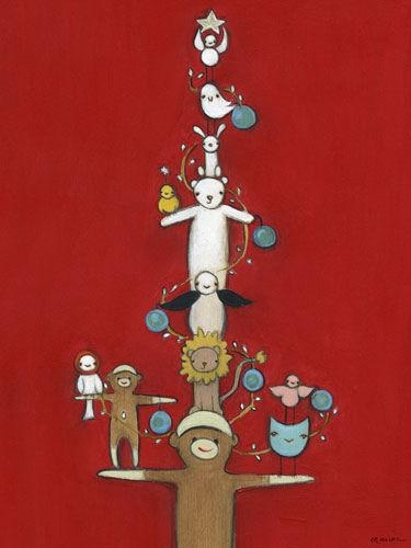 Sock Monkey Holiday Tree Canvas Wall Art Intended For Sock Monkey Wall Art (Image 13 of 20)