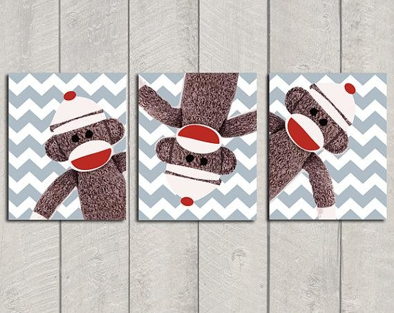 Sock Monkey Nursery Ideas – Design Dazzle Within Sock Monkey Wall Art (View 5 of 20)