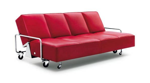 Sofa Bed / Contemporary / 4 Seater / On Casters – Couch Within Casters Sofas (Image 16 of 20)