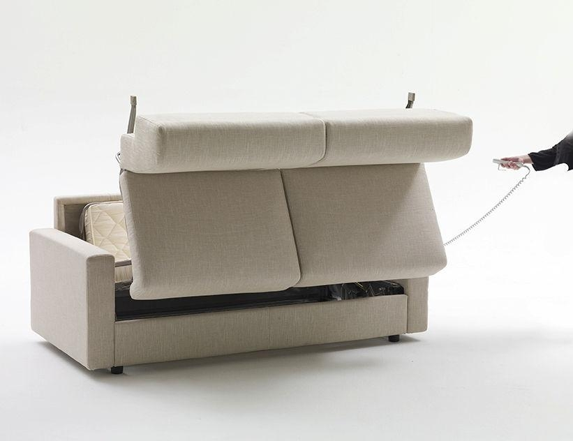 Sofa Bed / Contemporary / Fabric / 2 Seater – Lampo Motion Throughout Electric Sofa Beds (Image 16 of 20)