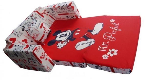 Sofa Bed Design: Mickey Mouse Sofa Bed All Old Homesred And White Regarding Mickey Fold Out Couches (Image 14 of 20)