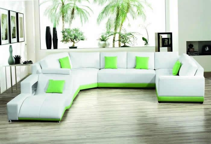 Sofa Beds Design: Astounding Modern Green Sectional Sofa With With Regard To Green Leather Sectional Sofas (Image 19 of 20)
