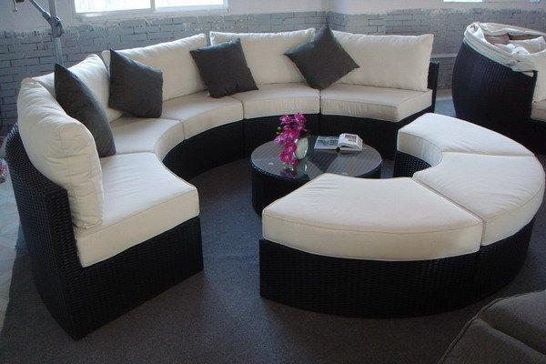 Sofa Beds Design: Extraordinary Modern Semi Circular Sectional Pertaining To Semi Circular Sectional Sofas (Image 14 of 20)