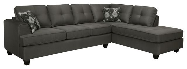 Sofa Beds Design: Inspiring Modern Charcoal Grey Sectional Sofa With Charcoal Gray Sectional Sofas (Image 19 of 20)