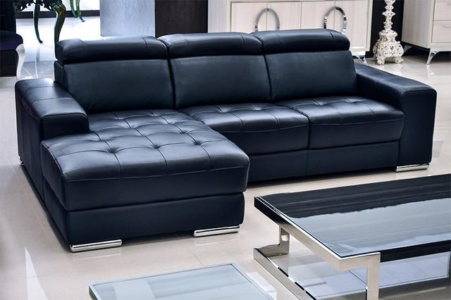 Sofa Beds Design: Mesmerizing Ancient Navy Blue Leather Sectional Pertaining To Blue Leather Sectional Sofas (Image 19 of 20)