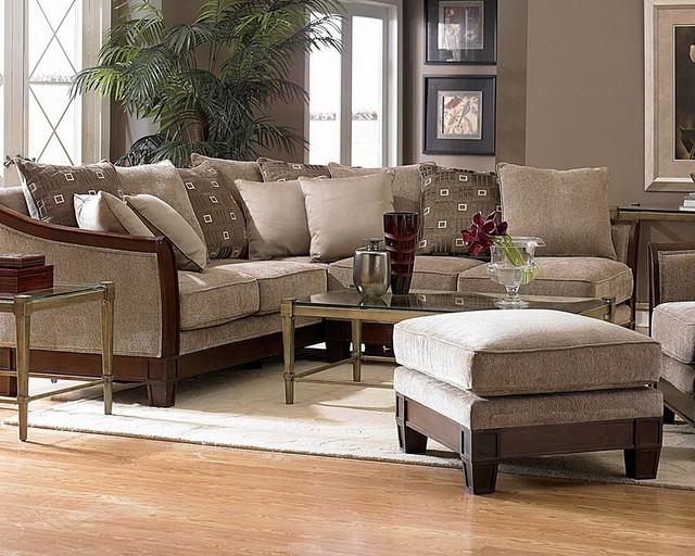 Sofa Beds Design: Outstanding Modern Chenille Sectional Sofa With Pertaining To Chenille Sectional Sofas (Image 19 of 20)