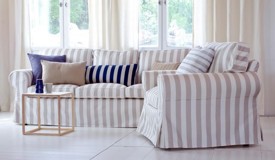 Sofa Covers Ideas – Home And Interior In Striped Sofa Slipcovers (Photo 5 of 20)