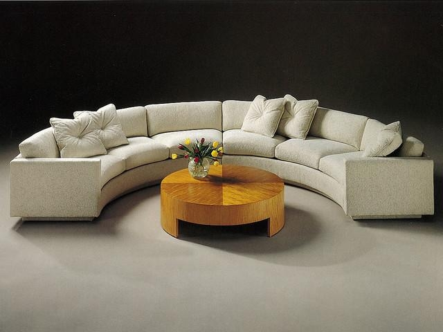 Sofa Design Ideas: Half Semi Circular Sofa Tables In Sale With Intended For Semi Circular Sectional Sofas (Image 19 of 20)