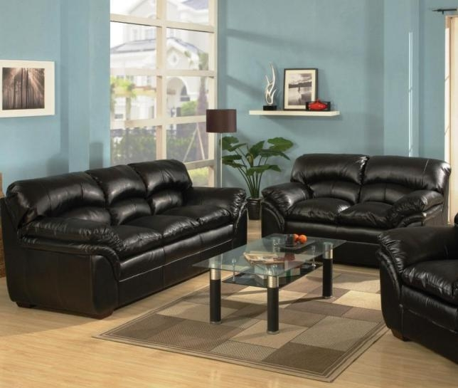Sofa: Inspiring Leather Sofa And Loveseat Sets Ashley Furniture With Black Leather Sofas And Loveseat Sets (View 2 of 20)