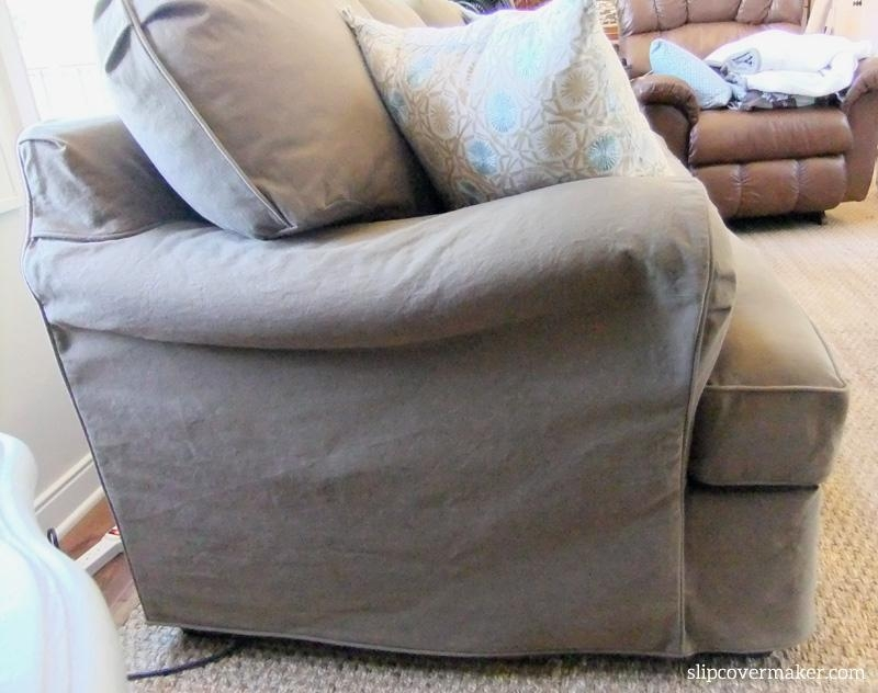 Sofa Slipcover | The Slipcover Maker Inside Denim Sofa Slipcovers (Image 16 of 20)