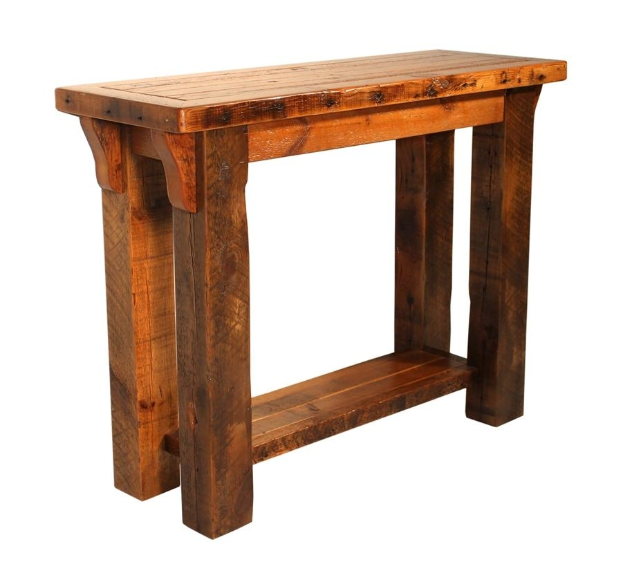 Sofa Table Design: Barn Wood Sofa Table Awesome Vintage Design With Regard To Barnwood Sofa Tables (View 4 of 20)