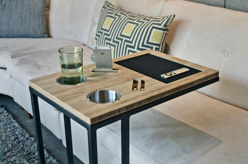 Sofa Table Design: Sofa Tray Tables Amazing Design Black Wrought Pertaining To Under Sofa Tray Tables (Image 18 of 20)