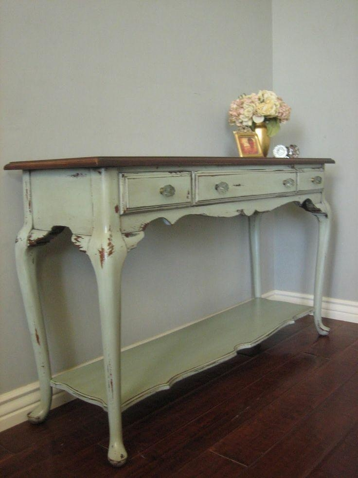 Sofa Table Design: Turquoise Sofa Table Best Traditional Design With Shabby Chic Sofa Tables (View 7 of 20)