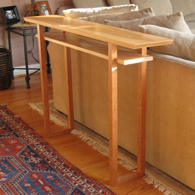 Sofa Tables, Narrow Console Tables & Artistic Side Tables  Modern Regarding Cherry Wood Sofa Tables (Image 12 of 20)